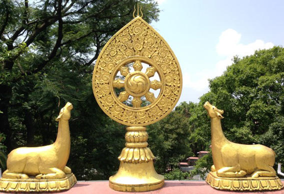 buddhism-symbolism-wheel-of-dharma-and-deers