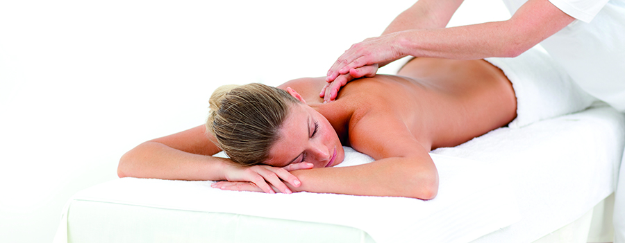 woman receiving integrative massage